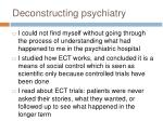 deconstructing psychiatry