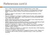 references cont d