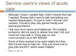 service users s views of acute care