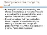 sharing stories can change the world