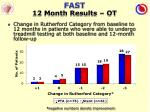 fast 12 month results ot