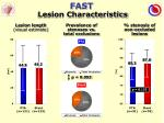 fast lesion characteristics