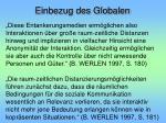einbezug des globalen