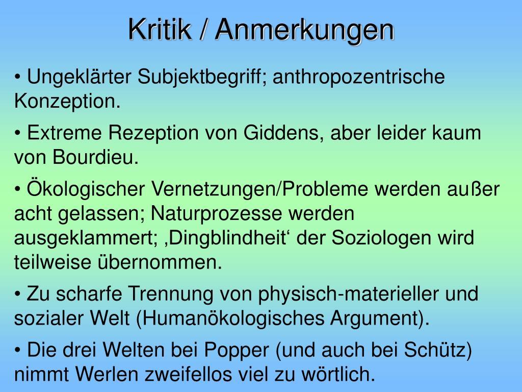 Kritik / Anmerkungen
