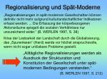 regionalisierung und sp t moderne