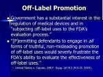 off label promotion
