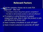 relevant factors8