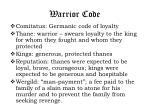 warrior code