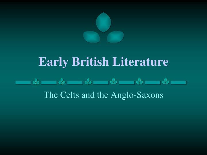 early british literature n.