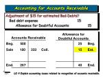 accounting for accounts receivable21