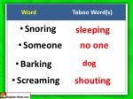 word taboo word s12