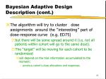 bayesian adaptive design description cont