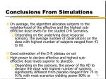 conclusions from simulations