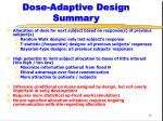 dose adaptive design summary
