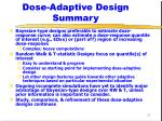 dose adaptive design summary17