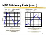 mse efficiency plots cont
