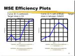mse efficiency plots