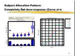 subject allocation pattern completely flat dose response curve id 8