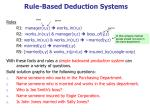 rule based deduction systems14