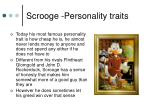 scrooge personality traits