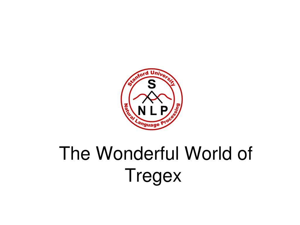 the wonderful world of tregex l.