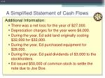 a simplified statement of cash flows12