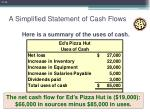 a simplified statement of cash flows14