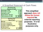 a simplified statement of cash flows15