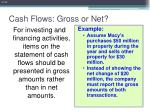 cash flows gross or net