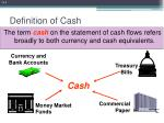 definition of cash
