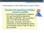 interpretation of the statement of cash flows