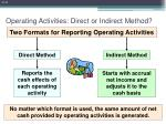 operating activities direct or indirect method