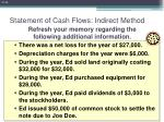 statement of cash flows indirect method34
