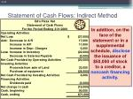 statement of cash flows indirect method43