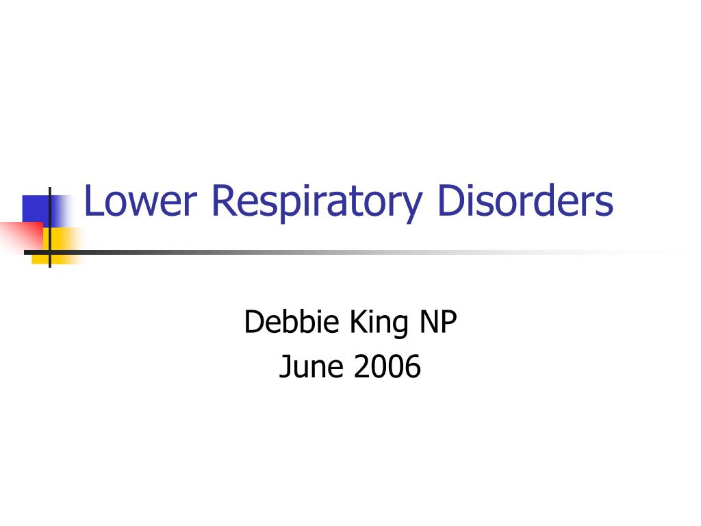 lower respiratory disorders l.