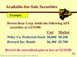 available for sale securities42