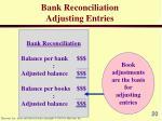bank reconciliation adjusting entries