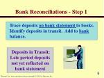 bank reconciliations step 1