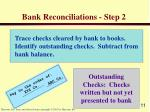 bank reconciliations step 2