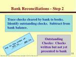 bank reconciliations step 2