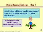 bank reconciliations step 3