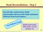 bank reconciliations step 4