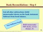 bank reconciliations step 4