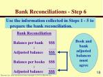 bank reconciliations step 6