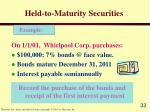 held to maturity securities33