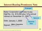 interest bearing promissory note