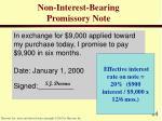 non interest bearing promissory note