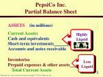 pepsico inc partial balance sheet3