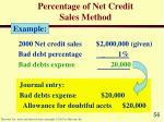 percentage of net credit sales method56