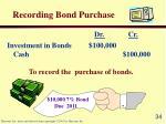 recording bond purchase